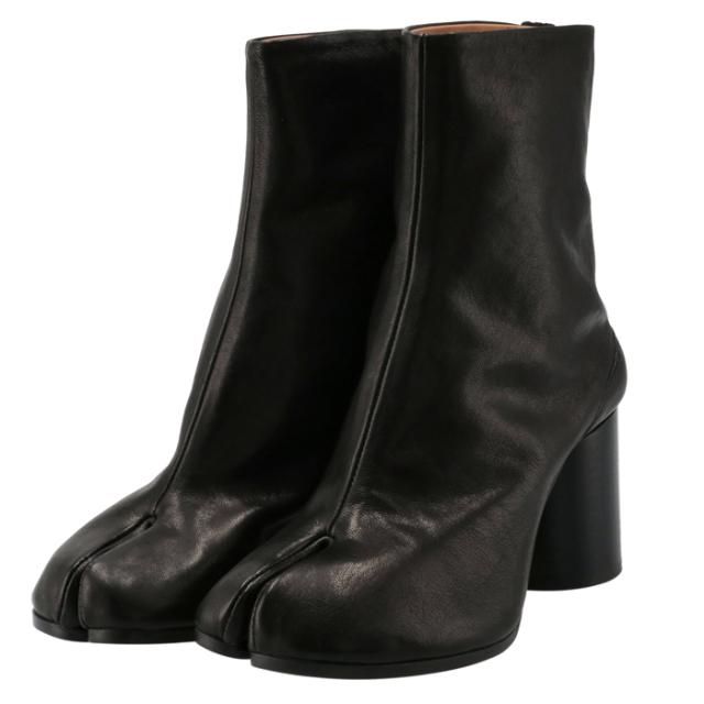 メゾン マルジェラ MAISON MARGIELA 2021年秋冬新作 Tabi タビブーツ 足袋ブーツ レザーブーツ レディース 靴 ブラック S58WU0260 P3753 T8013