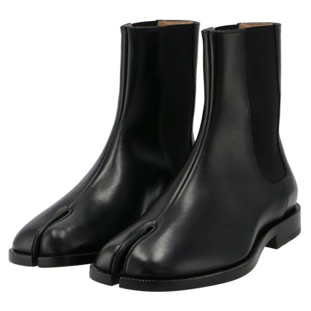 メゾン マルジェラ MAISON MARGIELA 2021年秋冬新作 Tabi サイドゴアブーツ タビ 足袋 レディース 靴 ブラック S58WU0275 P3292 T8013