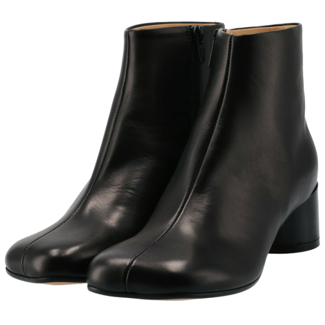 エム エム シックス メゾン マルジェラ MM6 MAISON MARGIELA 2021年秋冬新作 ブーツ 6 ロゴ ヒール シューズ 靴 レディース ブラック S59WU0173 PR331 T8013