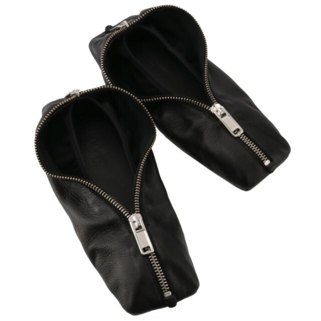 エム エム シックス メゾン マルジェラ MM6 MAISON MARGIELA 2021年秋冬新作 バレリーナ ペンシルケース フラットシューズ 靴 レディース ブラック S59WZ0079 P2451 T8013