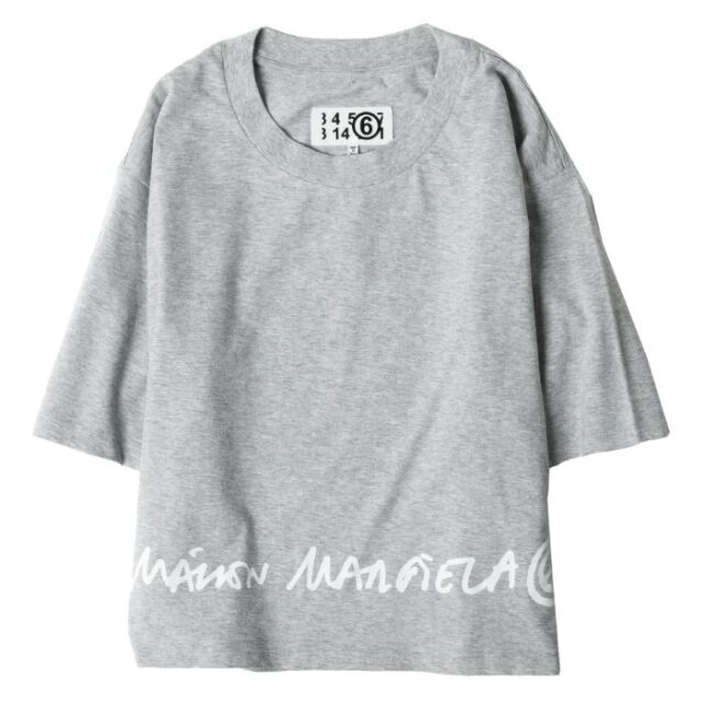 エム エム シックス メゾン マルジェラ MM6 MAISON MARGIELA ロゴ クロップド Tシャツ スウェット レディース グレー S62GD0086 S23588 858M