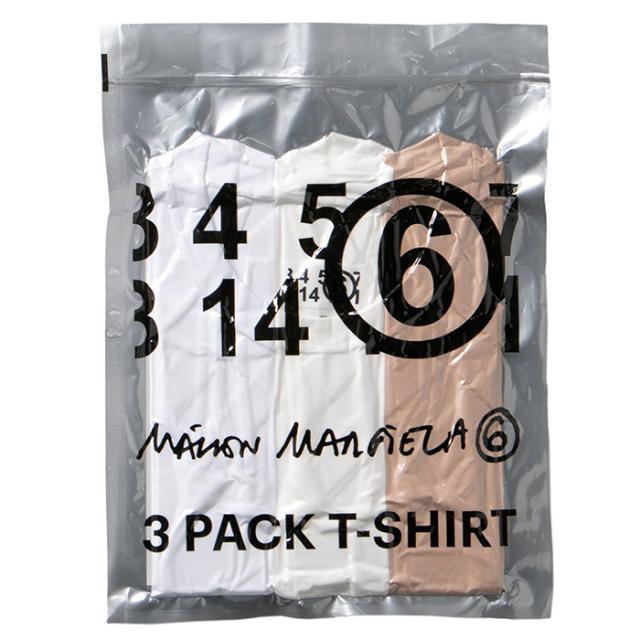 エム エム シックス メゾン マルジェラ MM6 MAISON MARGIELA 3パック ロゴ Tシャツ 3枚セット S62GD0087 S23901 961