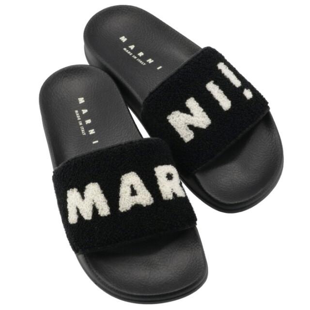 マルニ MARNI ラバー サンダル テリークロスアッパー 靴 サンダル SAMS010202 P3556 ZI969