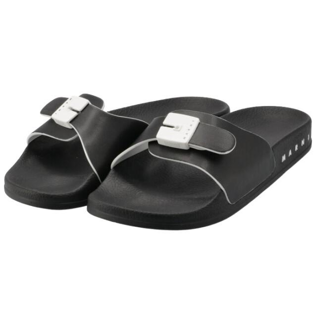 マルニ MARNI スライドサンダル エコナッパレザー バックルモチーフ 靴 サンダル SAMS012702 P4110 ZI969
