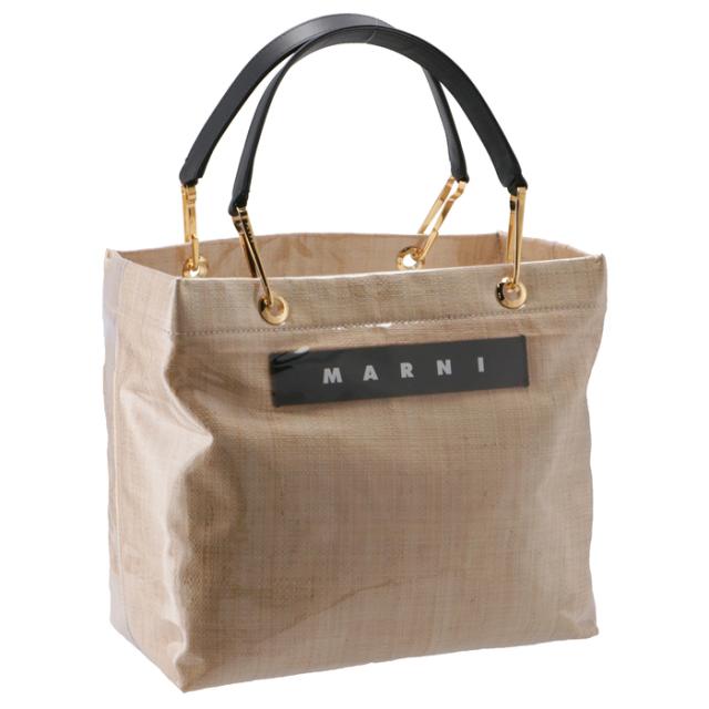 マルニ MARNI 2020年秋冬新作 トートバッグ Mサイズ PVC×ラフィア GLOSSY GRIP ショッピングバッグ SHMP0015Q1 P3620 00W16