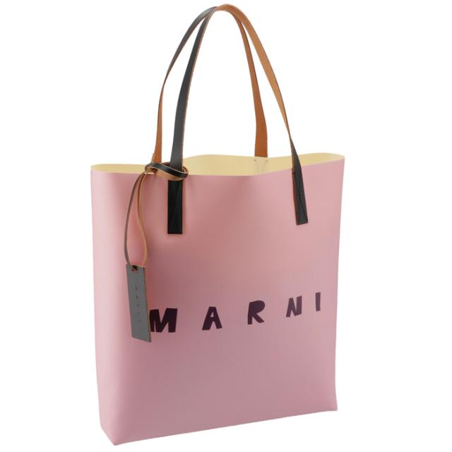 マルニ MARNI 2020年秋冬新作 ロゴ トートバッグ PVCショッピングバッグ トートバッグ SHMPQ10A06 P3660 LOC03
