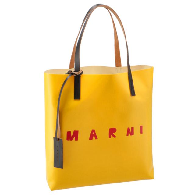 マルニ MARNI 2021年春夏新作 ロゴ トートバッグ PVCショッピングバッグ トートバッグ SHMPQ10A06 P3660 Z2N31