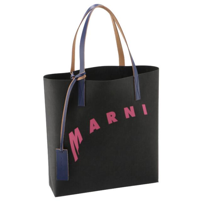 マルニ MARNI 2021年春夏新作 トートバッグ ロゴプリント ショッピングバッグ トートバッグ SHMPQ10A07 P3951 Z2N30
