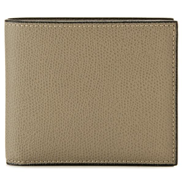 【送料無料】ヴァレクストラ VALEXTRA  カーフスキン 二つ折り財布 V8L04 028 00TO