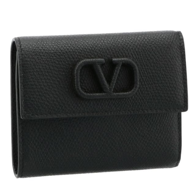 ヴァレンティノ・ガラヴァーニ VALENTINO GARAVANI 財布 三つ折り Vスリング スモール ウォレット ブラック VW2P0T39 RQR 0NO