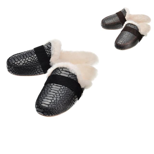 エミュ EMU 2018年秋冬新作 スリッポン スリッパサンダル ファー MOOKA 靴 サンダル W11871