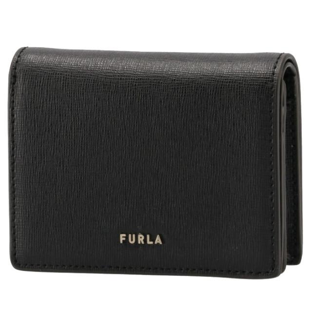 フルラ FURLA 2021年秋冬新作 財布 二つ折り財布 バビロン BABYLON コンパクト ウォレット ブラック WP00075 B30000 O6000