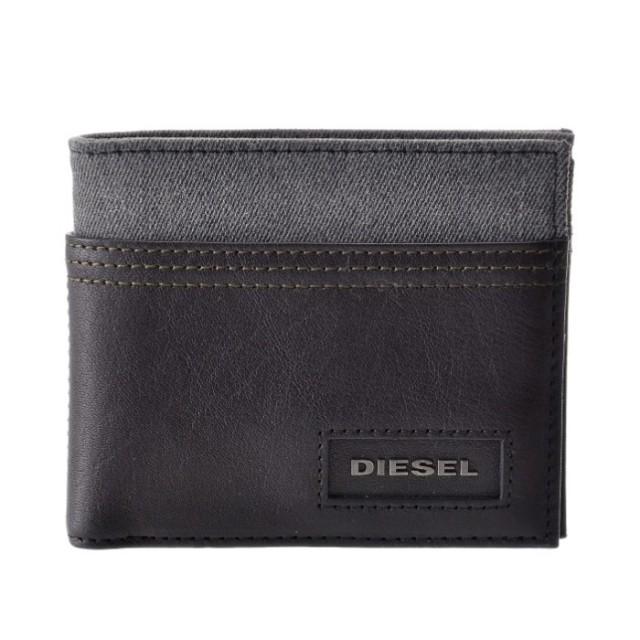 ディーゼル DIESEL 2018年秋冬新作 財布 レザー×デニム メンズ 二つ折り財布 X05575 PR185 H6027