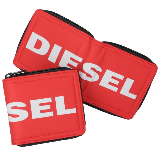 ディーゼル DIESEL 2019年秋冬新作 財布 メンズ ロゴ 二つ折り財布  メンズ 二つ折り財布 X06290 P2249 T4032