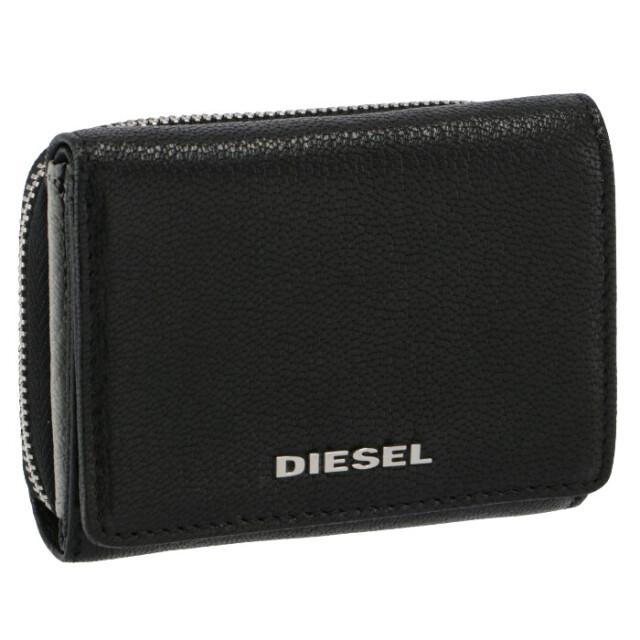 ディーゼル DIESEL 財布 三つ折り THESTARTER ミニ財布 ブラック×グレー X06639 P3043 H0999