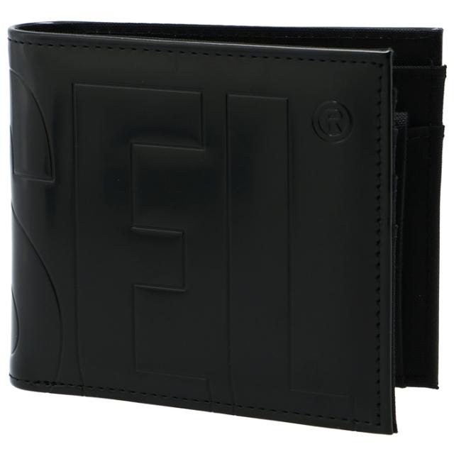 ディーゼル DIESEL 2021年秋冬新作 メンズ 財布 二つ折り BOLD MESSAGE 折りたたみ ブラック X07729 P3892 T8013