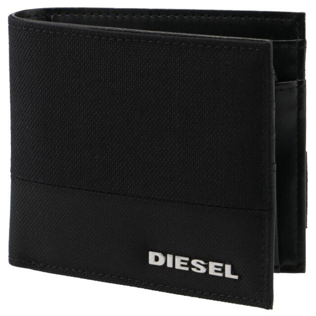 ディーゼル DIESEL メンズ 財布 二つ折り URBHANITY 折りたたみ ブラック X07731 P2676 H1669