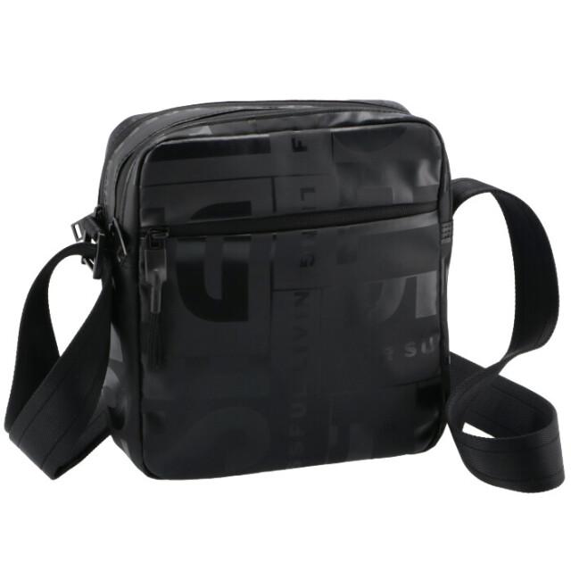 ディーゼル DIESEL メンズ ショルダーバッグ BOLD MESSAGE メッセンジャーバッグ ブラック X07797 P3893 T8013