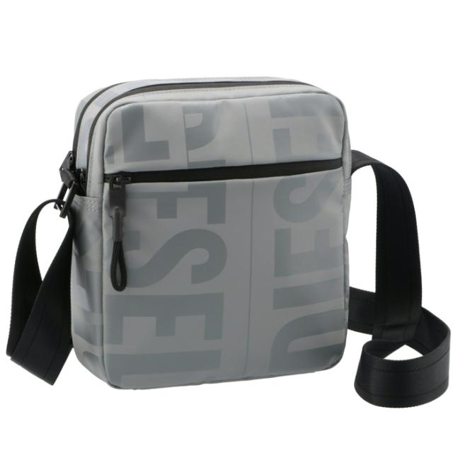 ディーゼル DIESEL メンズ ショルダーバッグ BOLD MESSAGE メッセンジャーバッグ グレー X07797 P3893 T8149