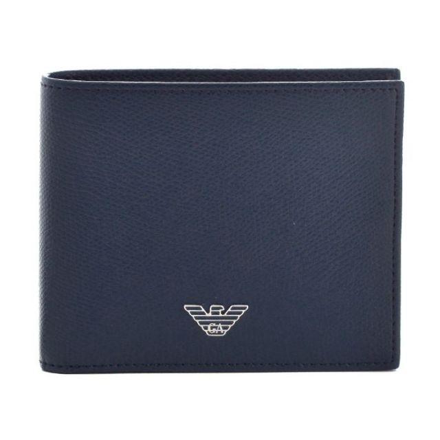 エンポリオ アルマーニ EMPORIO ARMANI サイフ さいふ メンズ 二つ折り財布 型押しカーフスキン YEM122 YAQ2E 80214