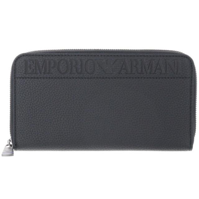 エンポリオ アルマーニ EMPORIO ARMANI 2018年秋冬新作 エンポリオアルマーニ 財布 メンズ ラウンドファスナー長財布 YEME49 YG89J 81072
