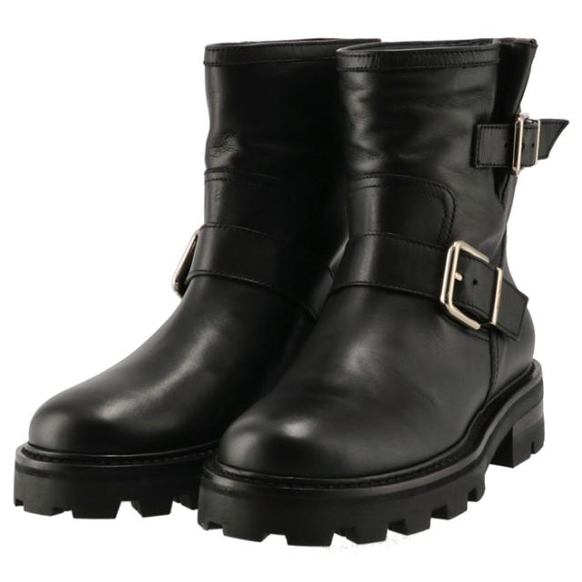 ジミーチュウ JIMMY CHOO 2021年秋冬新作 バイカーブーツ YOUTH II シューズ 靴 ブラック YOUTHII SQM 0001
