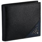 プラダ PRADA 2019年秋冬新作 メンズ 財布 二つ折り 小銭入れ無し サフィアーノ メタル メンズ 二つ折り財布 2MO513 QME G52