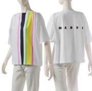 マルニ MARNI 2019年秋冬新作 ロゴ ストライプ Tシャツ 36サイズ (XS)  Tシャツ カットソー THJE0012PC SCQ21 STV35