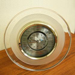 HOYAガラス置時計中古