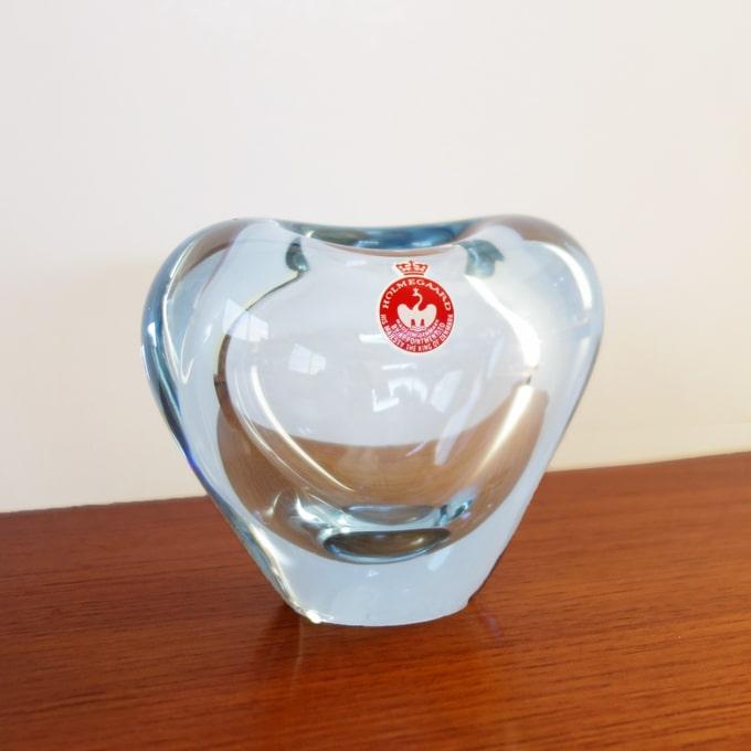 ホルムガードガラス ハートベース アクア