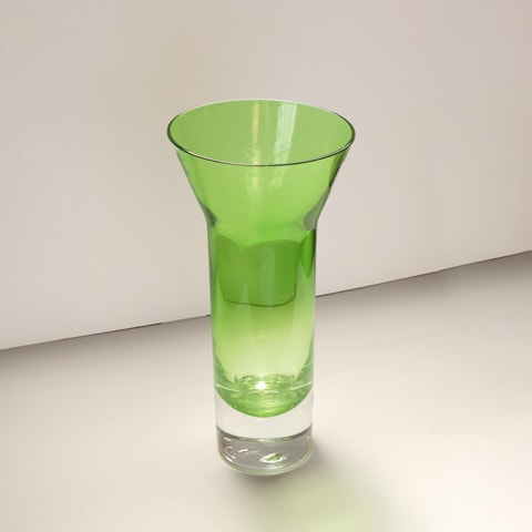 ヴィンテージガラス花瓶 ライトグリーン