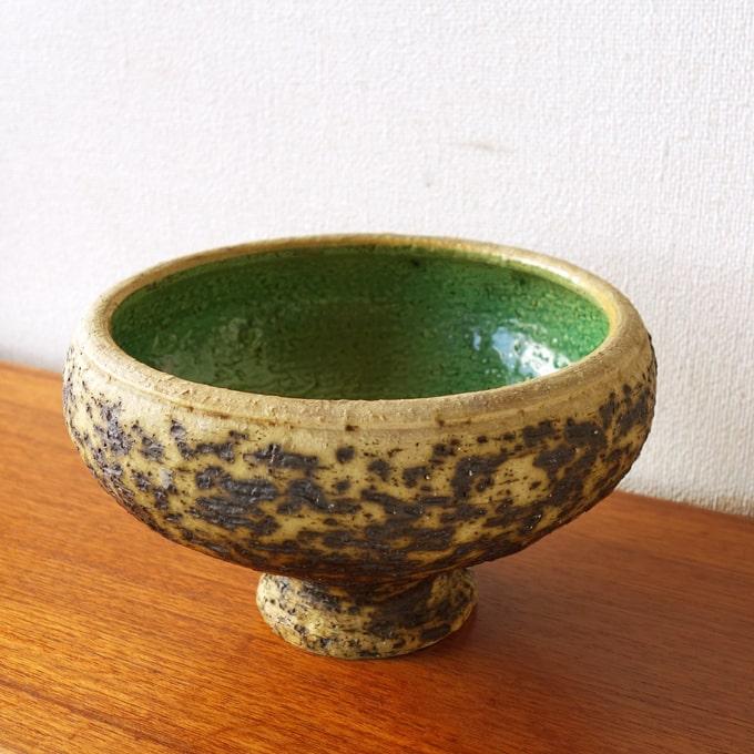 ビンテージ陶器ファットラバ花瓶