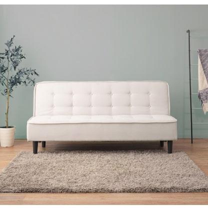 ソファベッド 幅180cm アイボリー