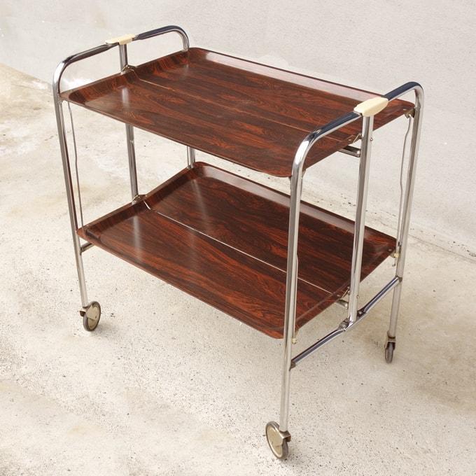 折り畳み式キッチンワゴン 北欧ビンテージ家具