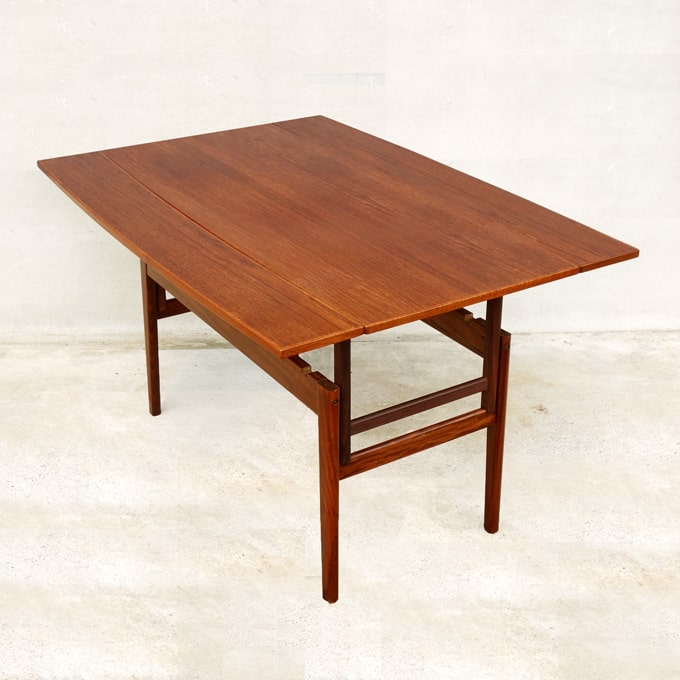 北欧ビンテージ・ダイニングテーブル 高さ調節可