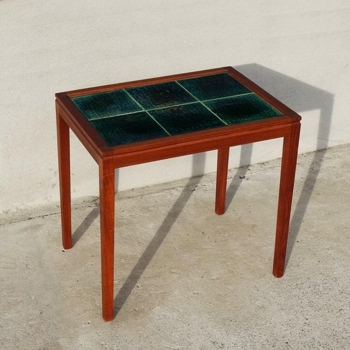 北欧ヴィンテージ深緑タイルテーブル