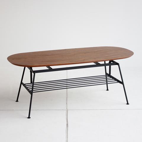 ウォルナット高さ調整できるコーヒーテーブル