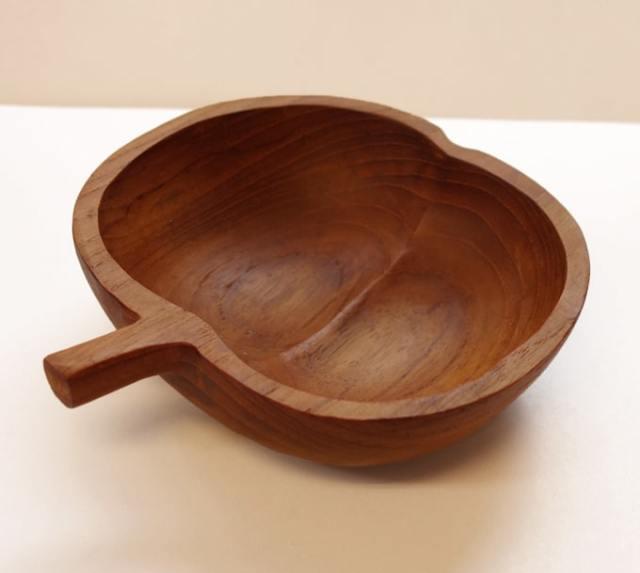 ハンドメイド木製ボウル アップル
