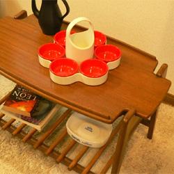 ac0107 西ドイツ製'70s emsaスナックトレー *amber design*北欧中古家具やビンテージ雑貨等のインテリア通販