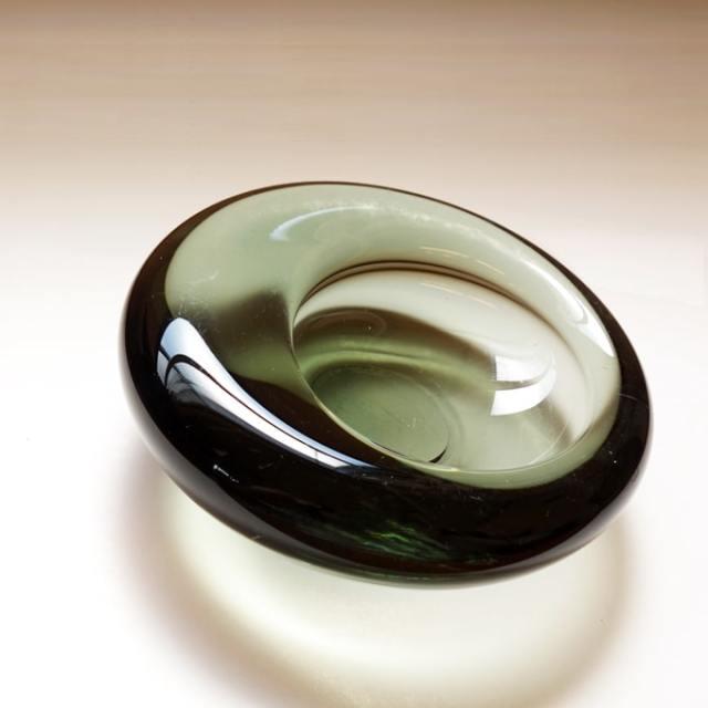 Holmegaardガラス灰皿 グレー