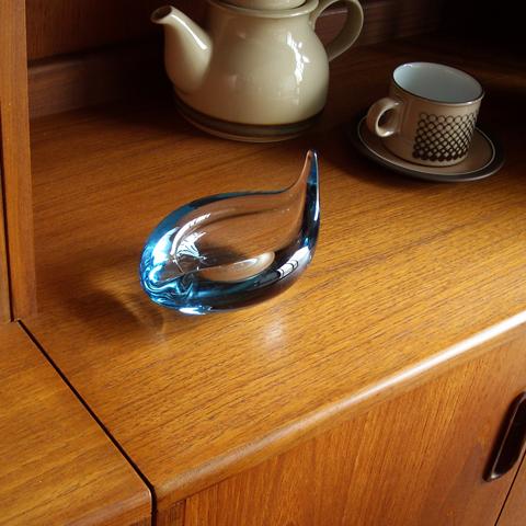 北欧ヴィンテージHolmegaardガラス灰皿