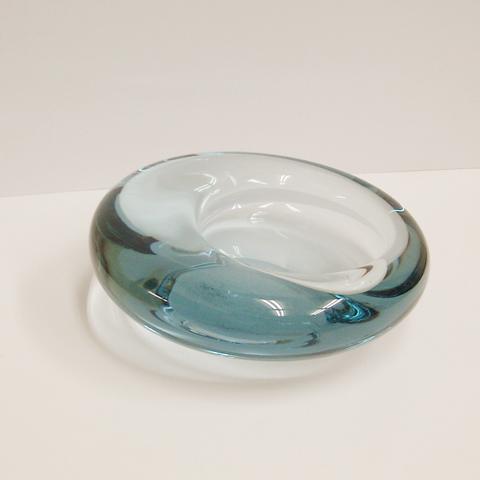 ホルムガードHolmegaardガラス灰皿アクア