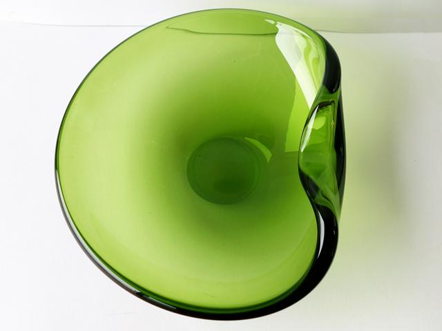 Holmegaardガラス灰皿 グリーン