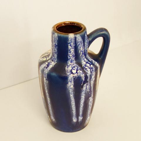 西ドイツ製フラワーベース青