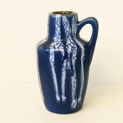 ヴィンテージ花瓶 ブルー