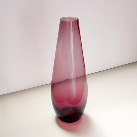 ヴィンテージ 紫ガラス花瓶