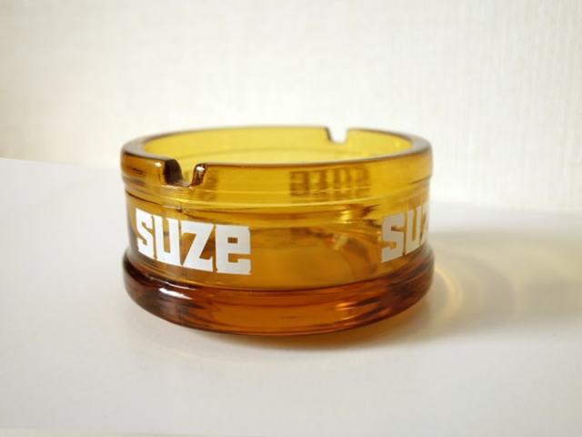 ヴィンテージガラス灰皿 SUZEノベルティ