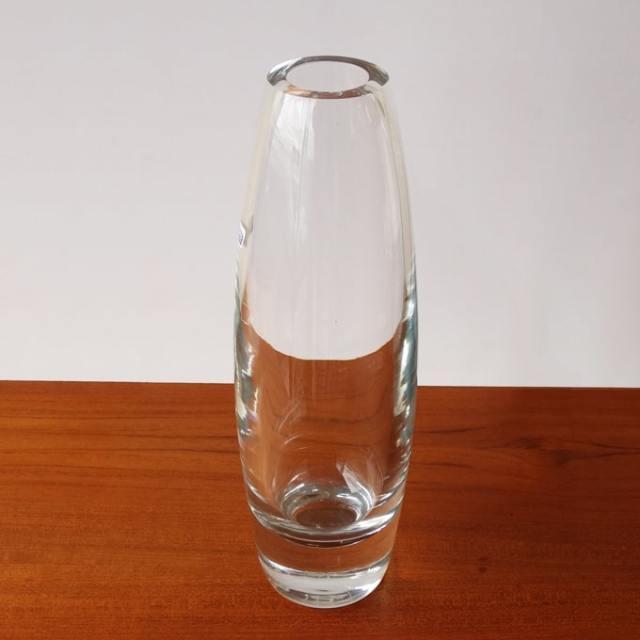 ヴィンテージガラス花瓶 透明