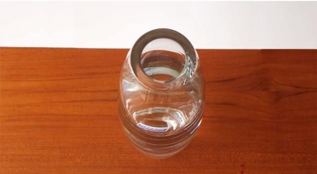 ヴィンテージガラス花瓶クリア 口