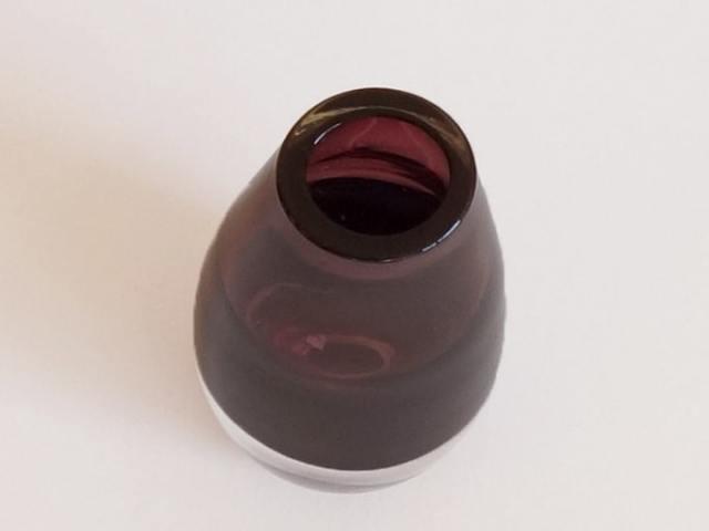 紫色のガラスベース ヴィンテージ